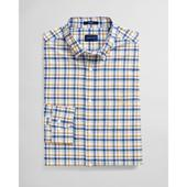Regular Fit Micro Madras Oxford Shirt in Multicoloured