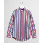 Regular Fit Multi Stripe Pinpoint Oxford Shirt in Multicoloured