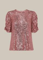 Seema Sequin Top in Pink