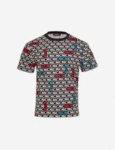 Logo-print cotton-jersey T-shirt in Multicoloured