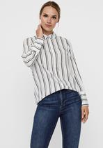 Button-down blouse in White