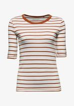 Print T-shirt in Red and White