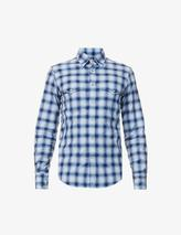Western-check cotton shirt in Blue