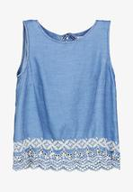 BLOUSE - Blouse in Blue