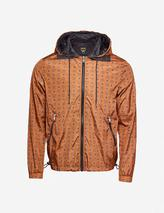 Collection logo-print shell jacket in Orange