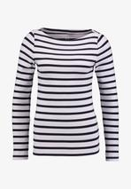 BOAT - Long sleeved top in White and Navy