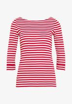 TEE - Long sleeved top in Red and White