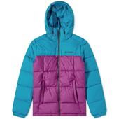 Columbia Pike Lake Hooded Jacket in Purple and Blue
