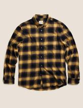 Pure Cotton Flannel Checked Shirt in Yellow and Black