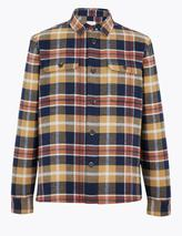 Cotton Checked Overshirt in Multicoloured