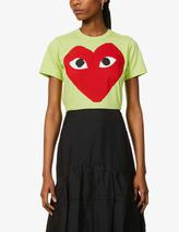Graphic-print cotton-jersey T-shirt in Green