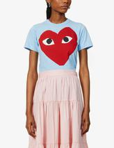 Graphic-print cotton-jersey T-shirt in Blue