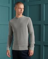 Academy Dyed Texture Crew in Grey