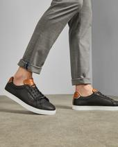 THWALLY Soft leather trainers in Black