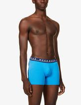 Pack of three stretch-cotton trunks in Blue