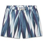 Striped Shell Swim Shorts in Multicoloured