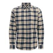 Checked Shirt in Neutral and Navy