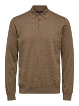 Berg Long Sleeve Polo Shirt in Brown
