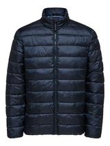 Recycled Polyester Sustainable Puffer Jacket in Navy