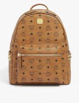 Stark logo-print coated-canvas backpack in Brown