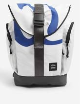 Roamer upcycled sail canvas backpack in White