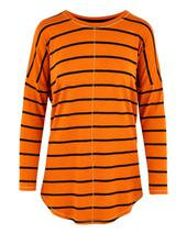 Oversized Stripe Top in Orange