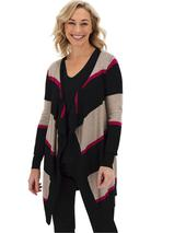 Waterfall Cardigan in Multicoloured and Black