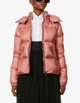Fourmi funnel-neck shell-down jacket in Pink
