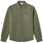 Kenzo Quilted Overshirt in Green