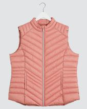 Dusty Pink Lightweight Padded Gilet in Pink