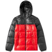 Columbia Pike Lake Hooded Jacket in Red and Black