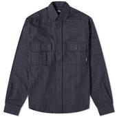PACCBET Flannel Checked Shirt in Navy