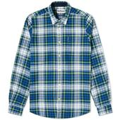 Barbour Highland Check 34 Tailored Shirt in White and Blue