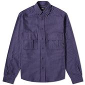 PACCBET Flannel Checked Shirt in Purple