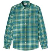 Barbour Highland Check 32 Tailored Shirt in Green