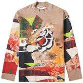 Kenzo Abstract All Over Print Tiger Crew Sweat in Multicoloured