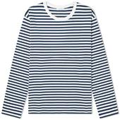 Nanamica Long Sleeve CoolMax St. Jersey Tee in Navy