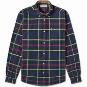 Barbour Highland Check 19 Tailored Shirt in Navy