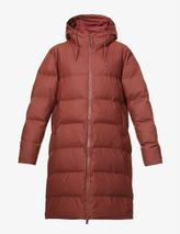Padded shell puffer coat in Red