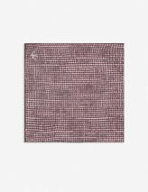 Washed silk pocket square in Red