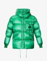 Padded hooded shell-down jacket in Green