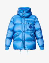 Padded hooded shell-down jacket in Blue