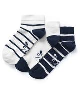 3 Pack Trainer Socks in White and Navy