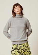Annalise Cashmere Rollneck Jumper in Grey