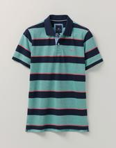 Oxford Multistripe Polo Shirt in Green and Navy