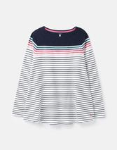 Harbour Lightweight Swing Long Sleeve Jersey Top in White