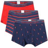 Polo Ralph Lauren Pony Boxer Short - 3 Pack in Red and Navy