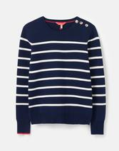 Portlow Jumper with Button Shoulder in Navy