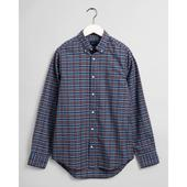 Slim Fit Tech Prep™ Indigo Check Oxford Shirt in Red and Blue