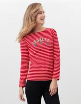 Harbour Luxe  Long Sleeve Jersey Top in Red